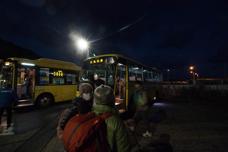 伊豆大島 岡田港 バス