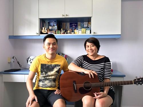 Private guitar lessons Singapore Jessica