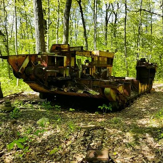 The abandoned half track that lives in the woods | by RRichardHobbs