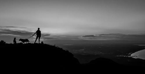 france roussillion perpignan argelessurmer madeloc tour de mediteranean sea mittelmeer mountains hiking wandern berge meer lanschaft landscape sunset sonnenuntergang pyrenäen pyrenees black an white weis schwarz