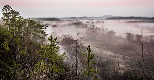 fog landscape sunrise hotspringsvillage arkansas