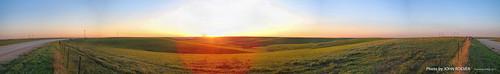 wabaunseecounty kansas usa 2017 may may2017 prairie flinthills pano panorama panoramic autostitch view sunset evening skylineroad