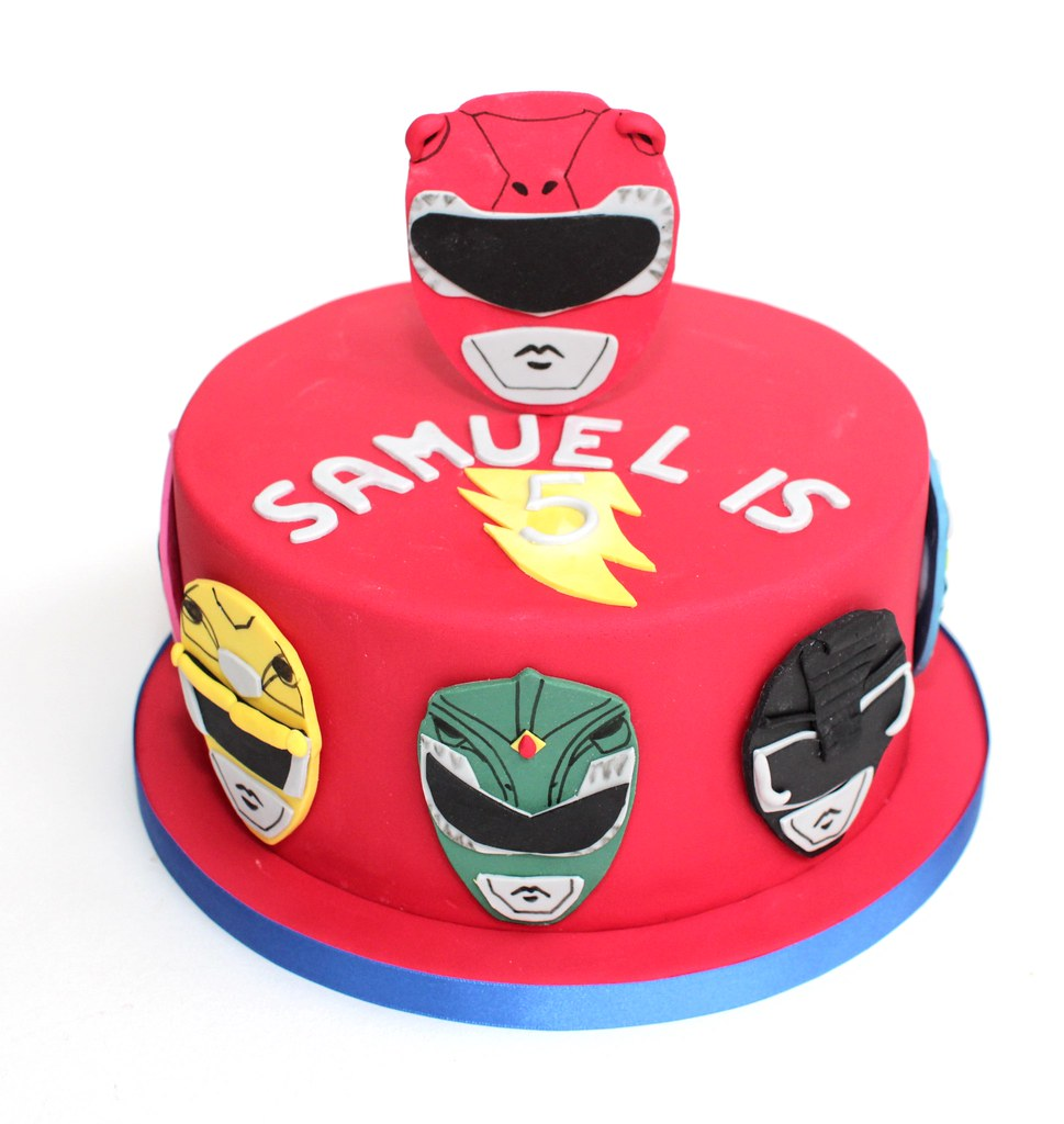 Power Rangers Birthday Cake.Power Rangers Cake For A Joint Birthday Party Red Was Th