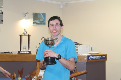 Andrew Coffin winner of the Sprint Series trophy | by PLSC (Panmure Lagoon Sailing Club)