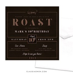 This invitation is for meat lovers :meat_on_bone:You could use it for a BBQ, Sunday roast, any excuse to get family and friends together and eat meat! #foodie #foodlovers #partyinvitations