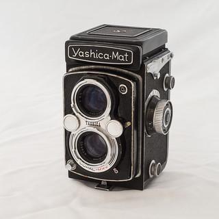 My Yashica Mat Twin Lens Reflex camera.   by Tony Joness