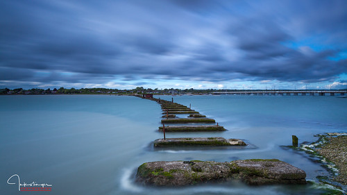 bridge clouds harbour le langstone leefilters longexposure reflections sky sunset water hampshire landscape sea