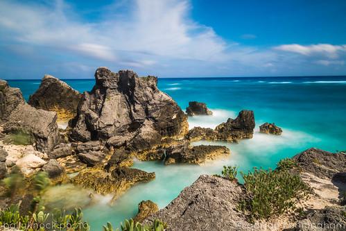 atlantic bermuda blue horseshoe longexposure ocean paradise southshore