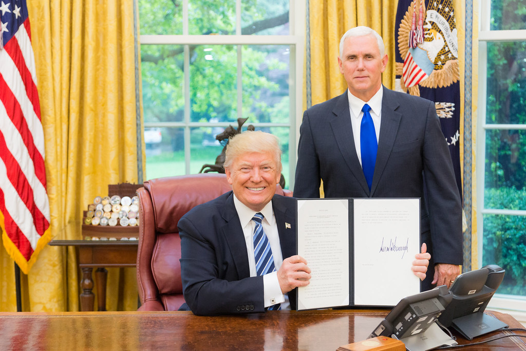 President Trump is joined by Vice President Pence for an Executive Order signing