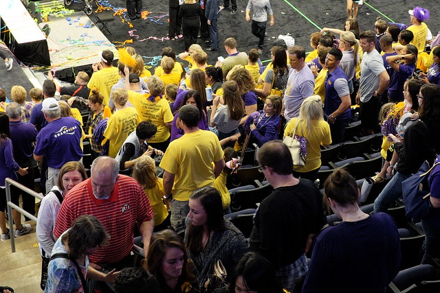 2017 Gymnastics Championship - LSU Parents and Fans (Mary Lou Retten in center)