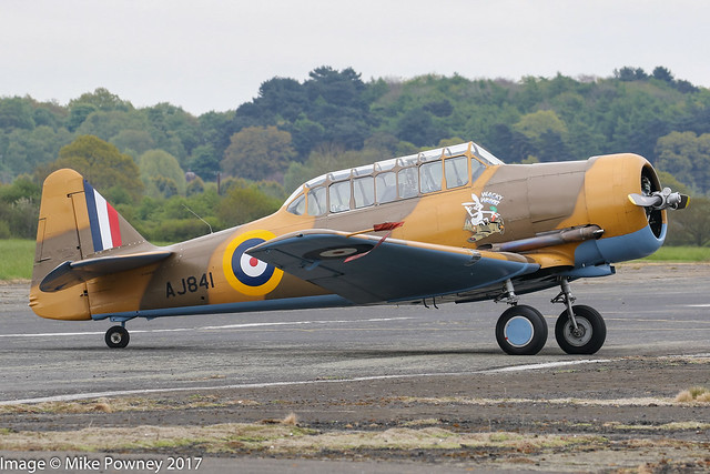 G-BJST/AJ841 - 1953 Canadian Car & Foundry built North American T-6J Harvard, at Halfpenny Green during Radials, Trainers & Transports 2017