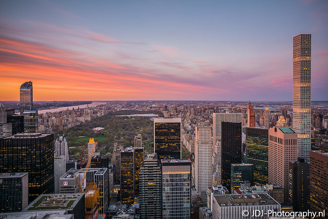 Top of the Rock, the sunset