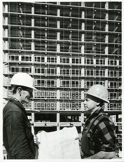 Construction Workers at the new Reserve Bank Site, Wellington