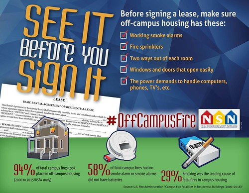 Off Campus Fire Safety NSN Poster 2017 | by USCPSC