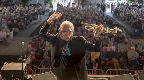Herb Alpert set in Jazz Tent - May 4, 2017 Day 4 of Jazz Fest. Photo by Marc PoKempner.