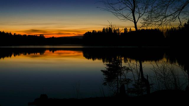 Night in the swedish wilderness