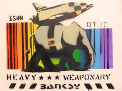 Heavy  Weaponary Banksy exhibition Amsterdam