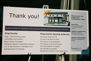 Hopelink Kenmore Housing Grand Opening Thank You