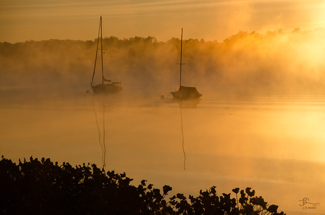 Two Boats in the Mist