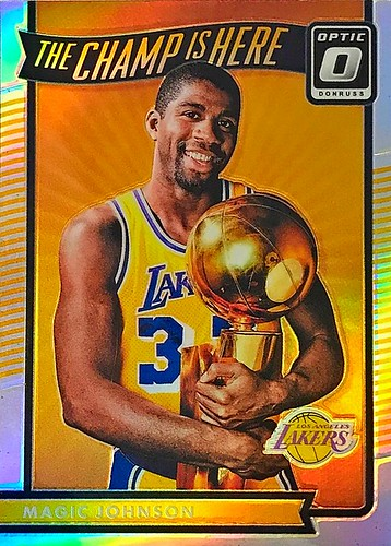 2016-17 Donruss Optic The Champ is Here Holo #15 Magic Johnson   by SMosley21x