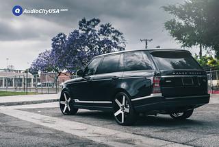 "2016 Range Rover HSE Supercharged on 24"" Onyx Wheels 908 Black Machine 