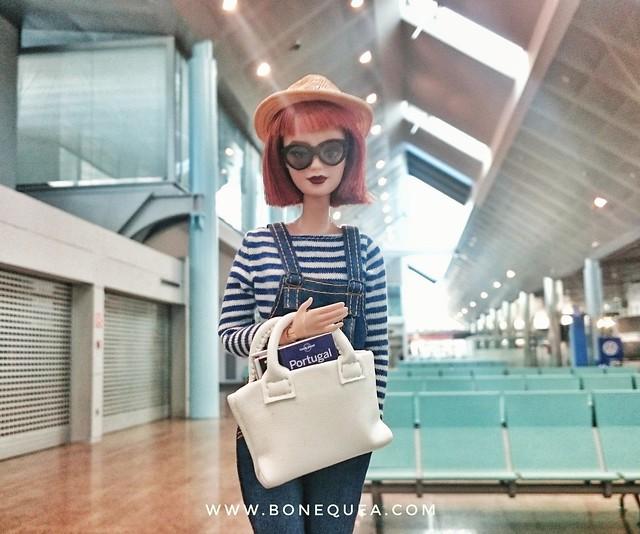 Portuguese Doll Convention 2017: En el aeropuerto, lista para salir hacia Lisboa!