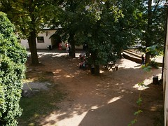 Nádvoří hradu Buchlov