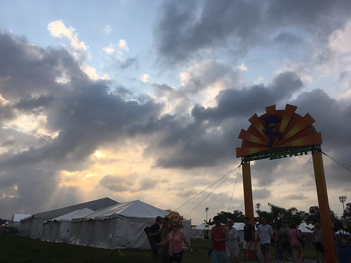 The sun sets over Day 1 of Jazz Fest - April 28, 2017