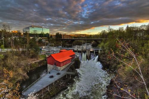 magog river riviere centreville downtown canada quebec sherbrooke estrie paysage landscape
