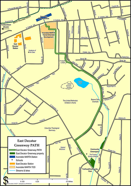 Map of East Decatur Greenway PATH
