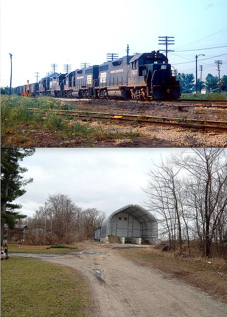 Before and after of the PRR at North Judson Indiana