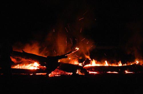 western australia bannister landscape bush fire log light flame dana iwachow nikon s9200