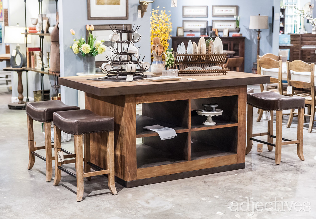 Kitchen Island, Leather Top Stools, Chairs and decor in Altamonte