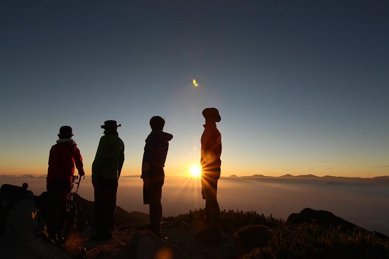 空木岳の集合写真