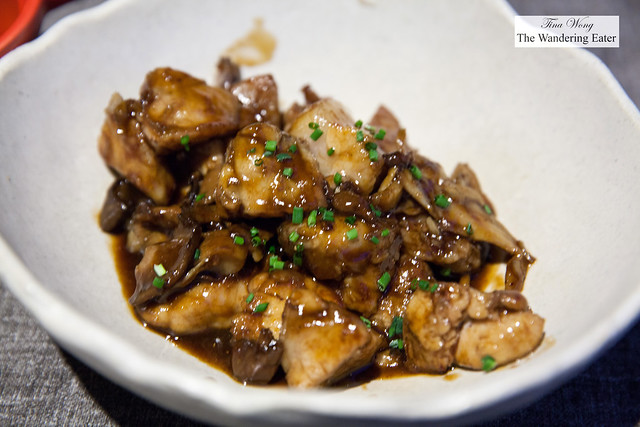 Veal sweetbreads with mushrooms