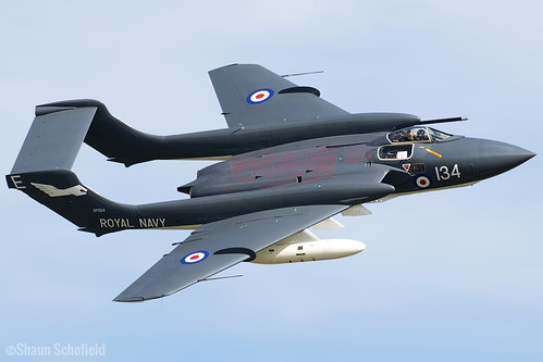 DeHavilland Sea Vixen FAW2 XP924/G-CVIX Fly Navy Heritage Trust Duxford 27/05/17 | by Shaun Schofield