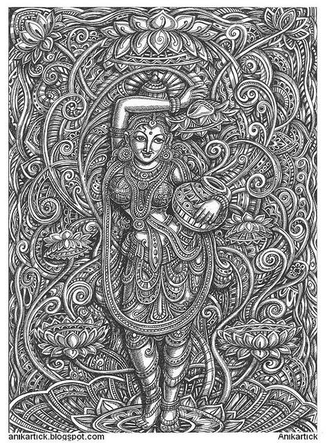 AJANTA ART / Based on Ajanta Caves Art in my Style of Drawings / Anikartick,Chennai,TamilNadu,India