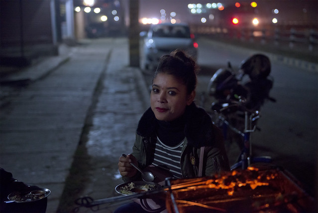 NPL - Dinner on the street - Bhairahawa - Nepal