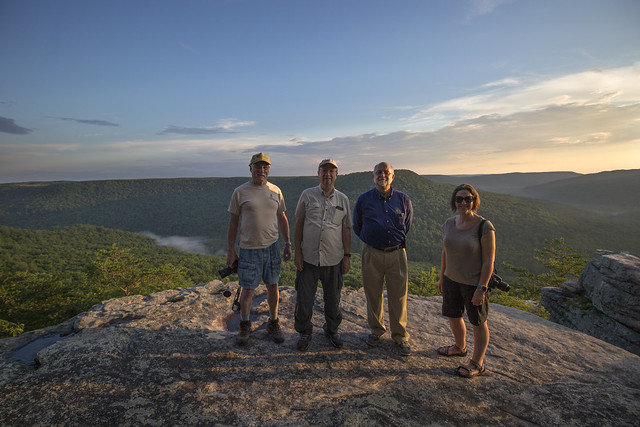 Guy Zimmerman, Chuck Womack, Marvin Bullock, Lindsay McReynolds, Welch Point, Bridgestone Firestone Centennial Wilderness WMA, White County, Tennessee