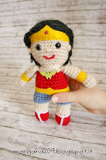 Superman&WonderwomanAmigurumi_12w | by Morgana209