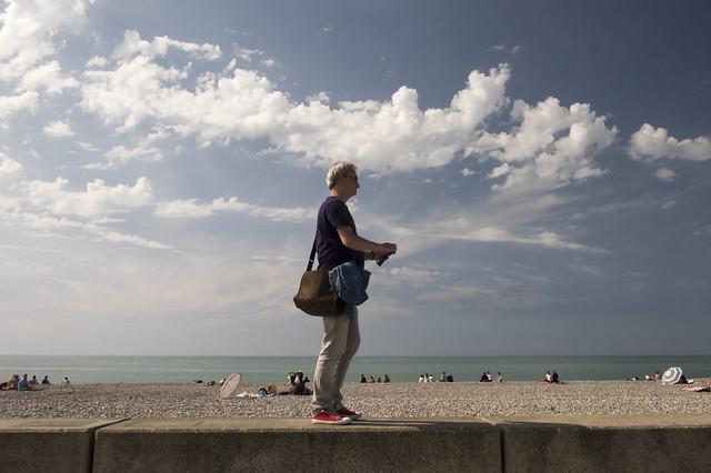 Sur le front de mer à Mers-les-bains