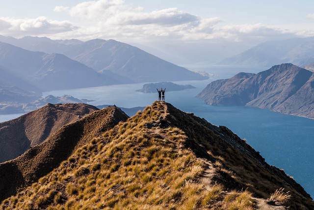 Views from the climb up to Mt Roy: Lake Wanaka, New Zealand