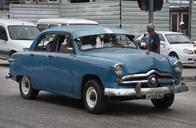 1949 Blue Ford Fordor Taxi. Havana, Cuba