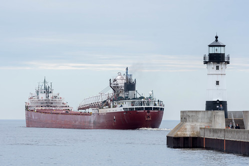 Duluth Trip - May 2017 - SS Cason J Callaway Departs Duluth | by pmarkham