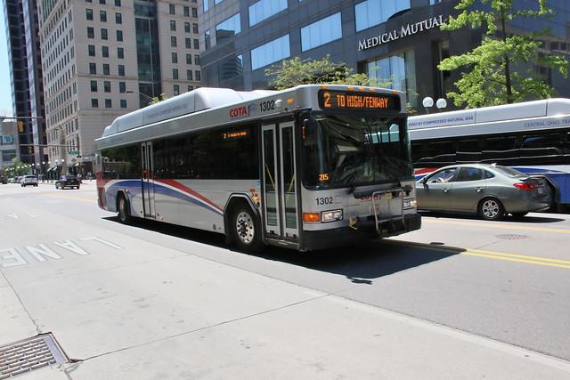 Columbus Ohio: (Central Ohio Transit Authority) COTA 1302 Gillig CNG 35'