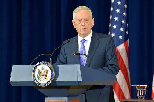 Secretary Mattis Addresses Reporters After the U.S.-China Diplomatic and Security Dialogue in Washington