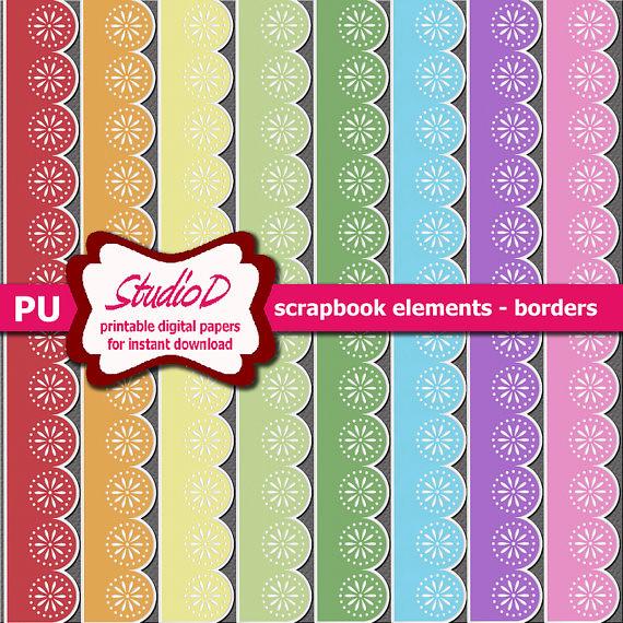 Pastel Borders Rainbow Sticker Borders Digital Scrapbook Flickr