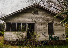 Abandoned House On the Outskirts Of Town; Backside View