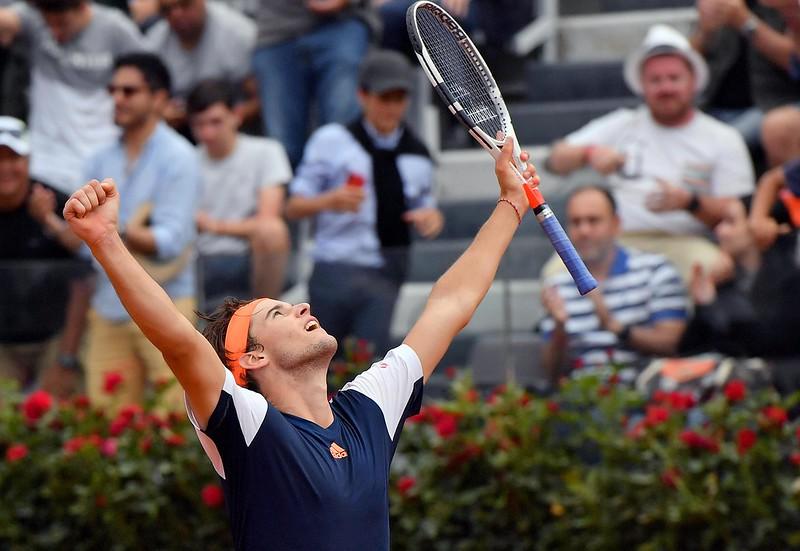 Dominic Thiem連2年在法網對上Rafael Nadal。(達志影像資料照)