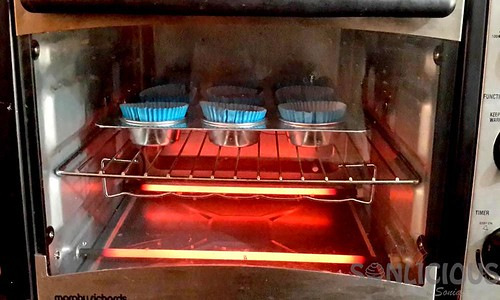 Carrot Date Muffins in Oven